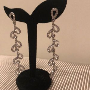 Dramatic Long Rhinestone Statement Earrings!